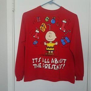 🌊 Peanuts Charlie Brown Christmas Long Sleeve